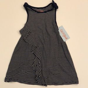 Girl's 18m blue and white striped dress